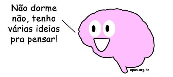 Cérebro não deixando dormir