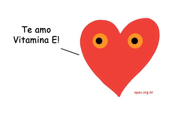 Coração ama vitamina E