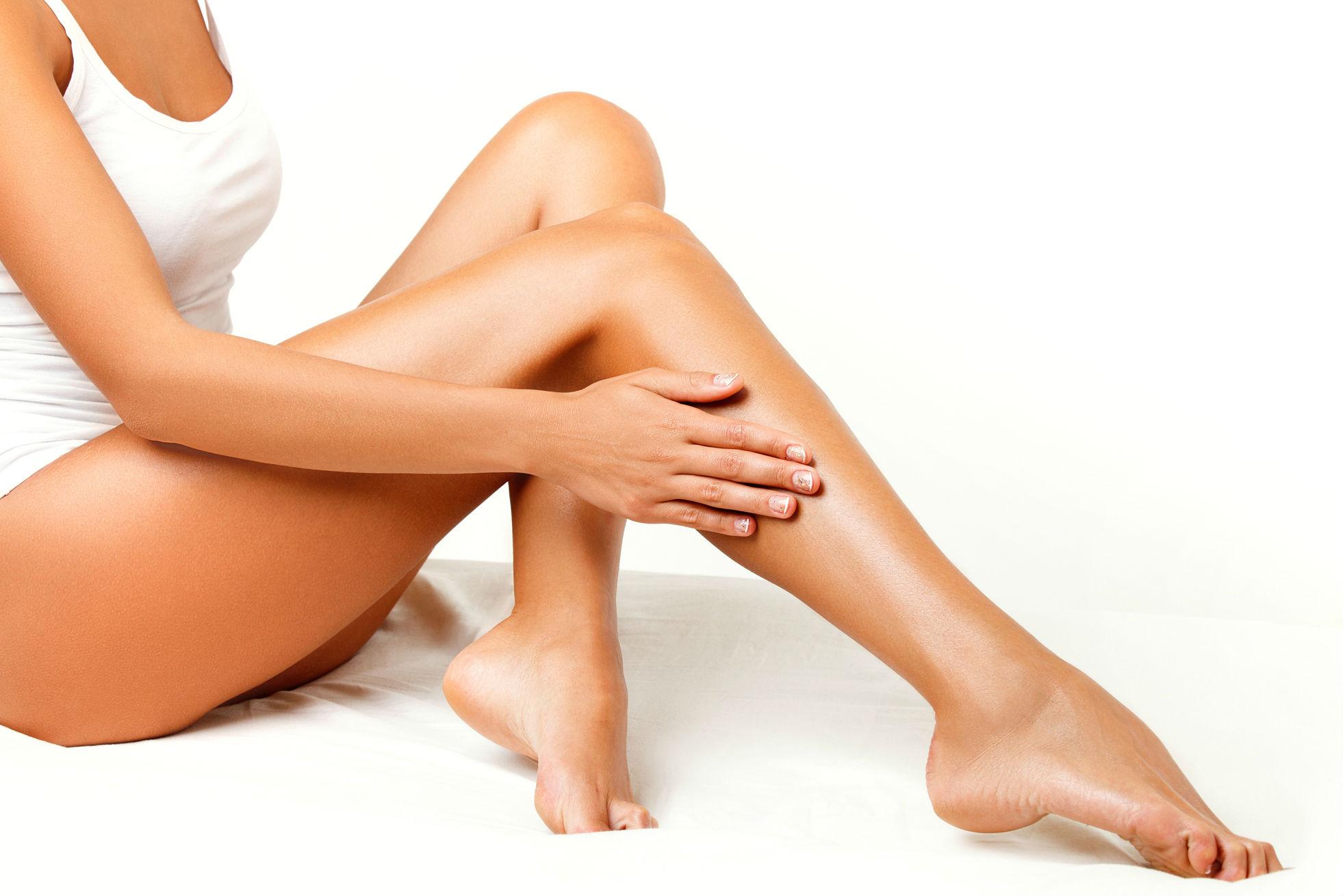 Depilação nas pernas