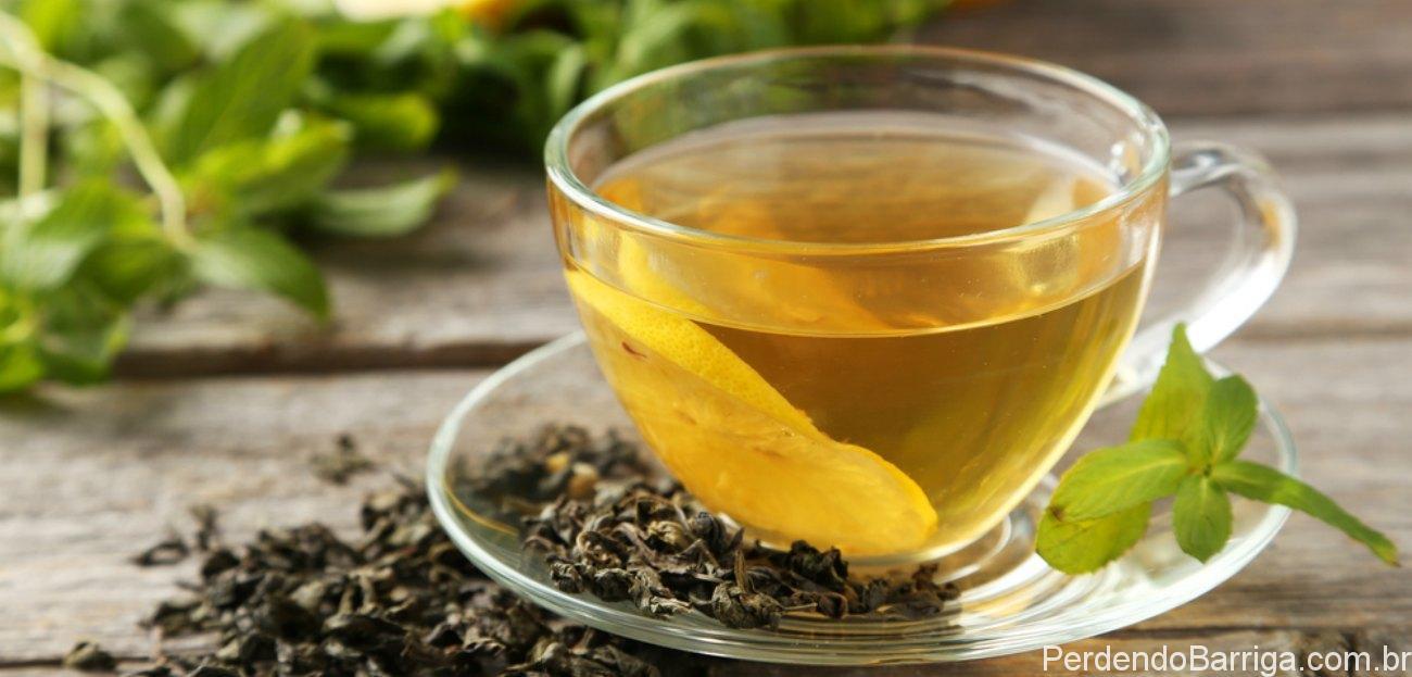 Xícara de chá-verde