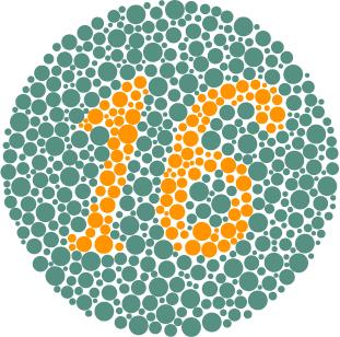 Consegue enxergar o número? A resposta é 16.