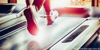 Saúde correndo na esteira