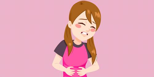 Quais são algumas das causas de espasmos abdominais no lado esquerdo
